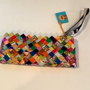 Nahui Olin candy wrapper wristlet